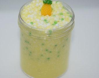 Pineapple Smoothie Micro Floam Slime, Pineapple Slime, Microbead Slime, Pineapple Slime, Slime Shop, Cheap Slime, Summer Slime