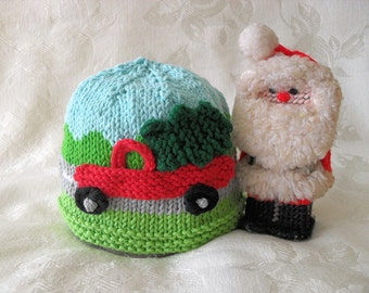 Baby Hat Knitting Knit Baby Hat Knitted baby Beanie Knitted Truck Hat cotton knitted  baby hat - CHRISTMAS TREE DELIVERY