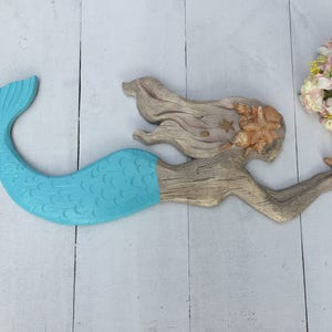 Superieur LARGE MERMAID DECOR/Nautical Decor/Coastal/Beach Decor/Mermaid/Ocean Wall