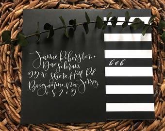 Modern calligraphy// hand addressed envelopes