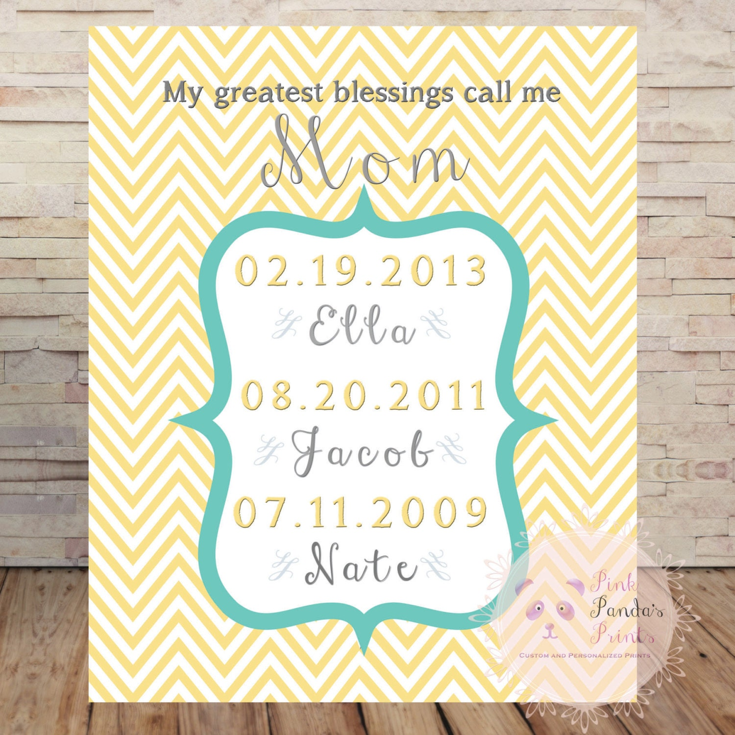 My greatest blessings call me mom personalized custom