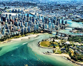 Vancouver Aerial Landscape -  Fine Art Photography - 8x12  - Affordable Home Decor