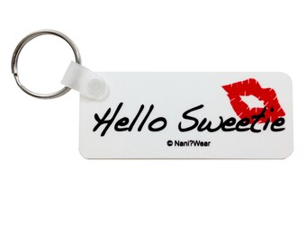 Doctor River Song Who Geek Keychain: Hello Sweetie
