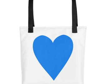 Big Blue Heart Love Tote bag