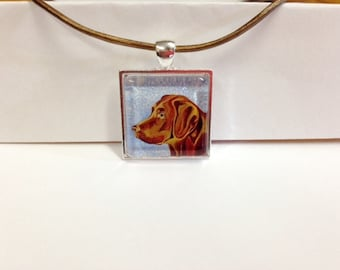 Warm and Whimsical, Chocolate Lab Necklace