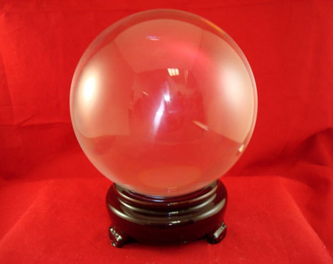 Crystal Ball, 80mm Large Gazing Sphere, Scrying Divining Tool Wicca Magical