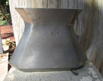 Modernist Pewter Vase Vessel Portugal Industrial