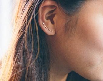 Tapered Bar Ear Pin Earrings (3 colors)
