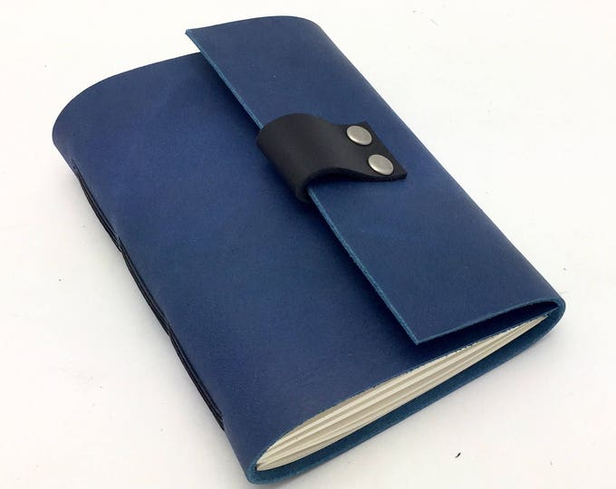 Wine Journal in Blue Leather - in stock