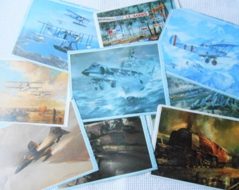 Planes, Trains, Automobiles Ephemera Pack 9 Color Prints