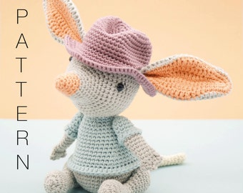 Amigurumi crochet cute bilby pattern - William the Bilby PATTERN ONLY (English)