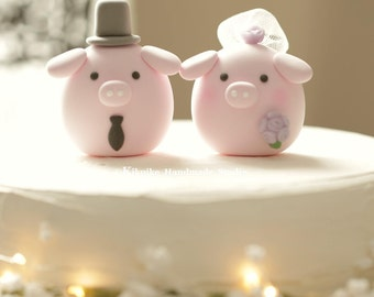 Pig and Piglet wedding cake topper