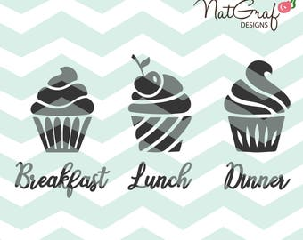 Cupcake SVG, Muffin svg, Bakery svg, cut files for Cricut and Silhouette, svg files, htv