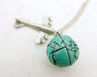 Travel around the world Necklace, Earth Necklace