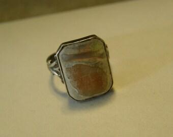 Very Vintage sterling blister pearl ring for repair
