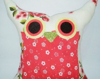 Red owl pillow /decoration cushion/ owl pillow/for hew /Express shipping/Ready to ship