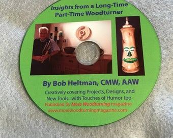 CD of 59 articles on woodturning projects...fun...how to...tools...making bowls, vases...with touches of humor