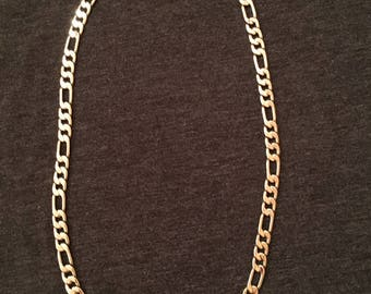 Men's Figaro Sterling Silver Necklace - approx. 24 inch long and 1/4 inch wide