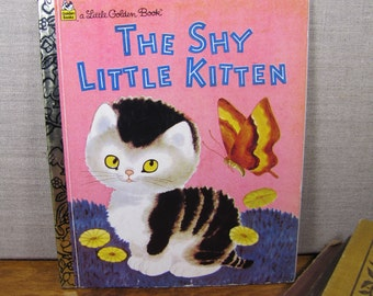 Vintage Children's Book - The Shy Little Kitten