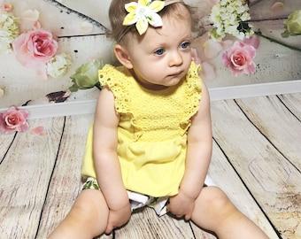 Lemon Headband- Lemon Bow; Lemon Hair Bow; Lemon Outfit; Toddler Headband; Newborn Headband; Bow Headband; Hair Bows; Headbands for Girls