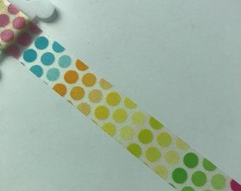 Rainbow dot washi tape sample