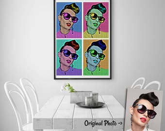 Andy Warhol Portrait - Pop Art Poster - Pop Art - Andy Warhol - Andy Warhol Poster - Pop Art Portrait - Pop Art Gift - Andy Warhol Gift