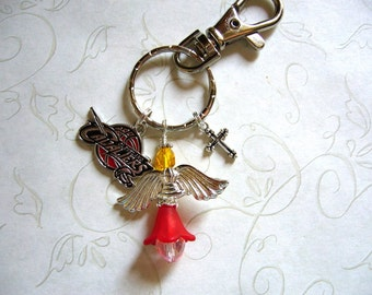 Cleveland Cavaliers Guardian Angel Key Ring or Purse Bauble - Shipping Free In USA