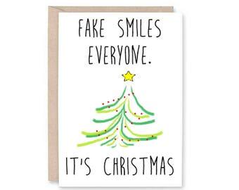 Funny Christmas Card - Christmas card, xmas card, Christmas gift, family Christmas, Christmas tree, Merry Christmas