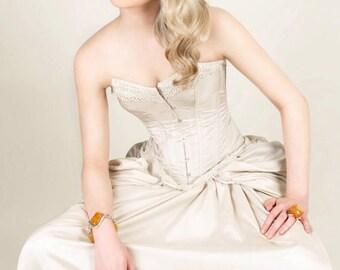 SALE item. Steampunk/ Victorian corset wedding dress / prom UK size 8-10