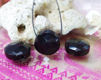 Black Obsidian natural stone pendant