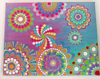 Mandala collage canvas