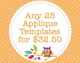 Any 25 Applique Templates, You Choose Designs, Multiple Purchase Discount. PDF Patterns by Angel Lea Designs