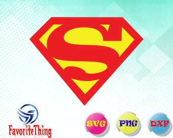 Superman svg,dxf,png/ Superman Vector / Superman Silhouette / Superhero SVG / Superman PNG / svg Files for Cricut