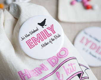 Personalised Hen Do Badge or Mirror