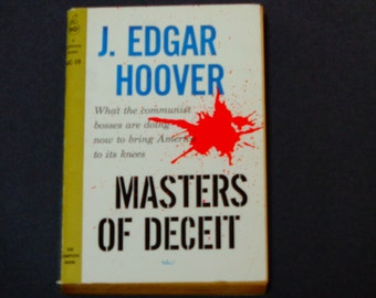 J. Edgar Hoover - Masters of Deceit - The Story of Communism - Cardinal Paperback Edition 1961 - Vintage Non-Fiction Book