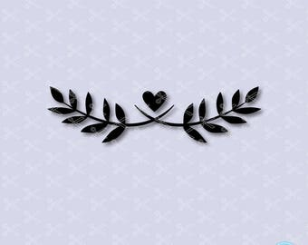 Laurel SVG, PNG, DXF, Eps Cutting files, flourish svg, flourish clipart, wedding svg, Leaf wreath svg, laurel wreath clip art vector
