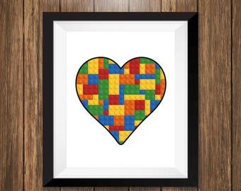 Lego Heart Art