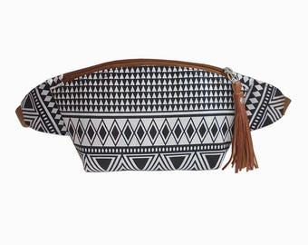 Boho fanny pack Black triangle/Hip Bag/belt bag/bum bag/fanny pack festival/crossbody bag/festival bag/waist bag/pocket bag/BUY 3 GET 1 FREE