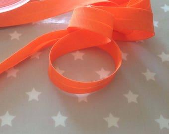 Bias orange neon cotton folded 2cm