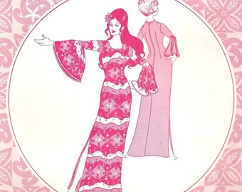 Muu Muu Patterns Pacifica 3014 Size 10 Hawaiian Dress