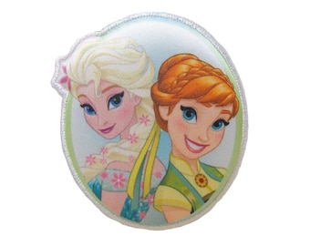 Anna and Elsa Iron On Applique, Genuine Disney Iron On Patch, Frozen Patch, Princess Patch, Frozen Applique, Disney Applique, Kids Patch