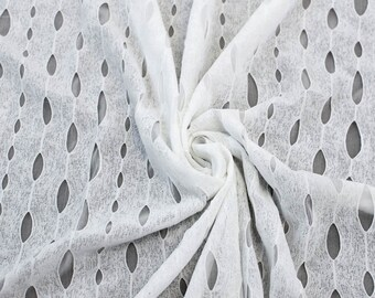 Off White Double Layer Vintage Stretch Knit Fabric by the yard  - 1 Yard Style 6214