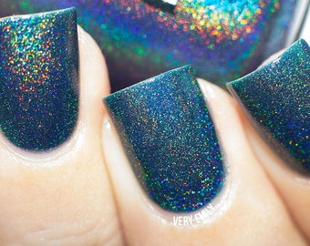 Holographic - Tealing No Lies:  Custom-Blended Glitter Nail Polish / Indie Lacquer / Polish Me Silly