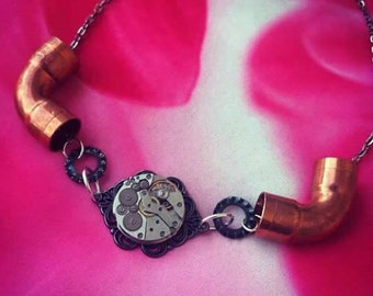 Handmade steampunk necklace. Handmade steampunk necklace