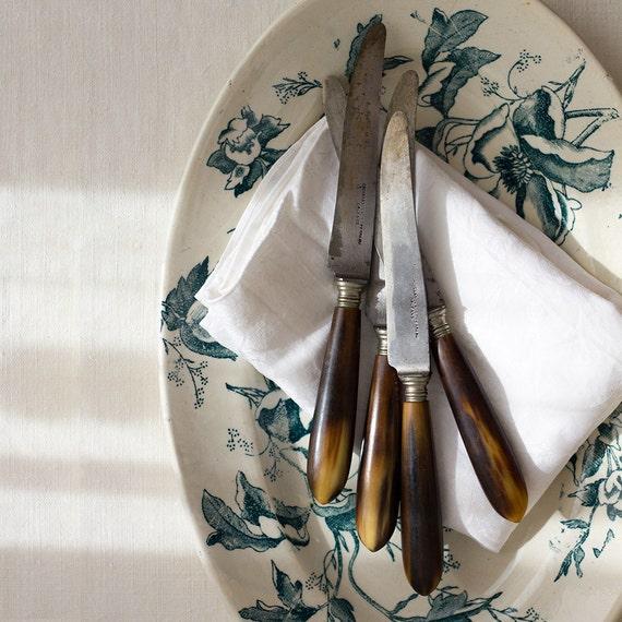 Classic Horn Dinner Knives - Set of 12 in Original Box