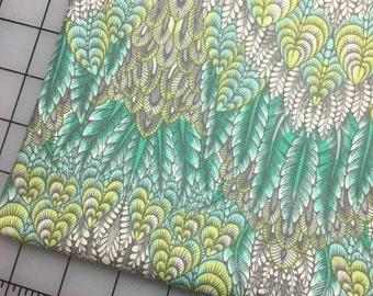 Tula Pink Foxfield Botanica in Shade Cotton Fabric