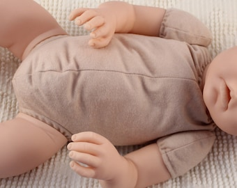 "19"" reborn doe suede body for baby doll kits 3/4 arms & full legs"