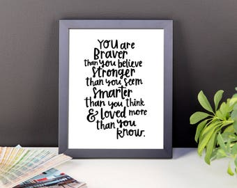 You are Brave Wall Decor