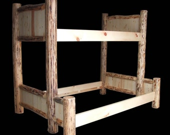 Rustic Twin on Full Bunk bed