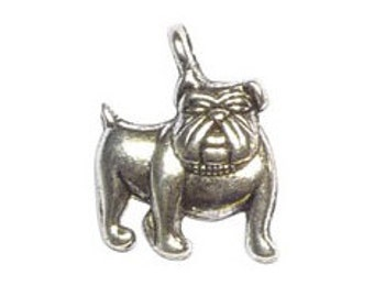 12 Bulldog Charm Dog Pendant 17x13mm by TIJC SP0445